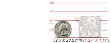 Chip on Flex - scale comparison